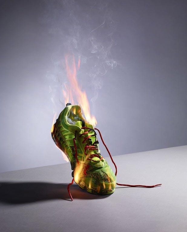 sneaker-on-fire