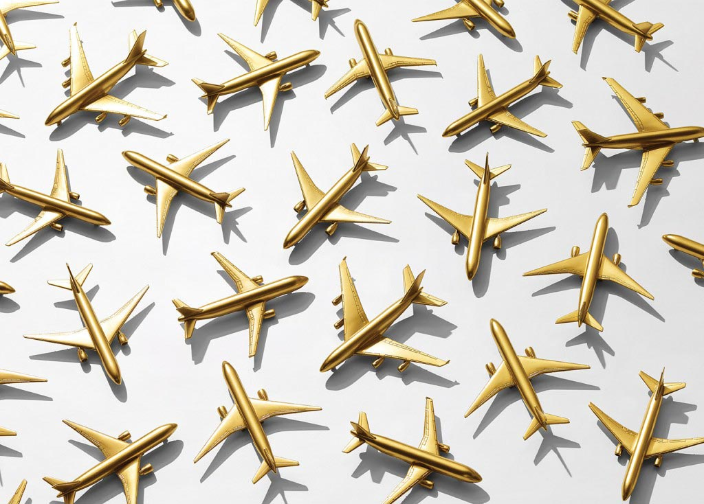 gold-airplanes