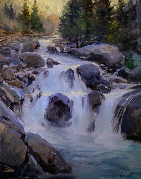waterfall-painting